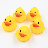 Wholesale Baby Bath Water Toy yellow duck toys Sounds Yellow Rubber Ducks Kids Bathe Children Swiming Beach Gifts