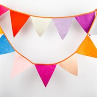 baby shower room decoration - Birthday Felt Bunting Wedding Decor Cheerful Party Baby Shower Play Room Garden Decoration Flags Photo Prop Garland