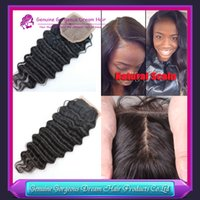 Cheap Brazilian Hair body wave closure Best Natural Color Deep Wave Silk Base Closure