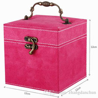 wooden jewelry box - Three layer colors wooden Lint Jewelry Box Organizer Display Storage Case With Mirror