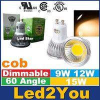 Wholesale Dimmable E27 E14 GU10 MR16 Led Bulbs Lights High Lumens cob W W W Led Spot Bulbs Lamp AC V V