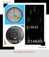 analog temperature indicator - j14 Mute scanning temperature humidity indicator luminous dial luminous wall clock TB