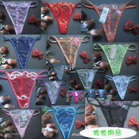 wholesale ladies wear - Cheap Floral G string Sexy Lingerie Women Panty Sexy Underwear Lady Thong Intimate Wear