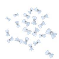 big beauty shop - White Acrylic Big Bow Tie Nail Art Mobile Phone Beauty DIY Decorations ES B2C Shop