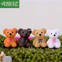 assembly bearing - mini microlandschaft cute craft E cozy garden moss micro landscape ornaments Teddy Bear DIY assembly combination toy doll or