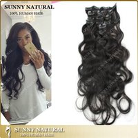 Wholesale 1Set Clip On Hair Extension set Natural Hairpieces Hair Piece Curly Clip In Hair Extensions