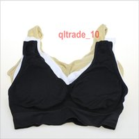 Wholesale 100 BBA5605 White Black Nude S XL bras Comfort Ahh Bra Leisure Seamless bras Micro fiber Sports Bra Support ahh no rims yoga Vest Opp Bag