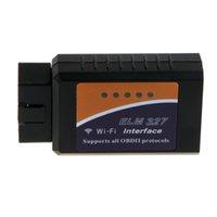 achat en gros de car diagnostic tool-Wifi Voiture Interface de Diagnostic Scanner ELM 327 ELM327 2015 Nouveau OBD 2 OBD2 OBDII Protocoles d'outils Auto K658