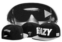 baseball sunglass - Brand new Cayler Sons EAZY Snapback Hat cap black with face wear sunglass hiphop bboy sports baseball caps Freeshipping
