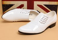 Wholesale NEW Cool sexy Pointed Groom shoes men s wedding shoes leather shoes Prom shoes for bridegroom shoes