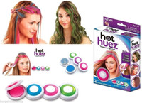 Wholesale 4pcs Huez Hair Chalk Powder Fashion Christmas DIY Temporary Wash Out Fashion