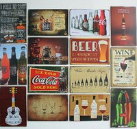 beer world - 2014 cm the beer wine world drinks Tin Sign Coffee Shop Bar Restaurant Wall Art decoration Bar Metal Paintings