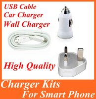 Wholesale Micro USB Data Sync Charger Line Cord Vehicle Car Charger Home Charger UK Plug for Samsung Note S5 S4 S3 Edge Moto Nexus Sony LG
