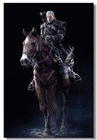 big game hunt - 24X36 INCH The Witcher Game Silk Wall Poster Big Art Print Boy Room Assassins of Kings Wild Hunt Geralt