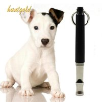 Wholesale Pet Dog Puppy Training Obedience Whistle Tool Ultrasonic Sound Pitch Flute Black