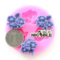 resin molds - Nicole silicone mold for fondant handmade cake decoration tools craft molds jewelry mold resin chocolate mould F0754