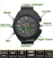 Wholesale W3000 New GB Waterproof wrist Watch Spy Hidden Camera Camcorder DVR P With IR Night Vision Cam