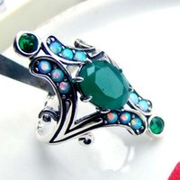 Cheap Emerald CZ Ring Best Fashion Opal Ring