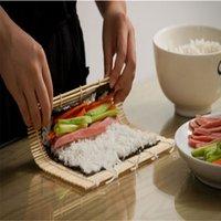 Wholesale New Fashion Piece New Bamboo Sushi Mat Onigiri Rice Roller Hand Maker Kitchen Japaness Food