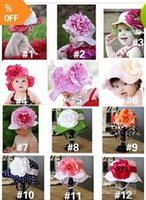 Wholesale hotsale doomagic Children s UV Caps sun hats baby cotton sun Hats girls babys flowers sun hats