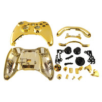 Wholesale New Arrival Hot Gold Chrome Replacement Shell Case Cover Mod Button For Xbox Controller Accessories Wireless