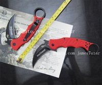 Cheap New style Fox Claw Karambit knife G10 Red Handle Folding blade knife Outdoor gear EDC Pocket Knife hunting knife camping knife knives