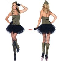 spy equipment - 2014 Halloween cosplay color dress military spy clothes new dress nightclub party equipment exports