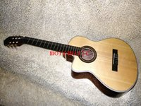 Wholesale Great Left Handed Guitar Classical Guitar Top Natural color Classical Acoustic Guitar
