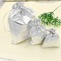 Wholesale New Mic Silver Plated Gauze Satin Jewelry Bags Jewelry Christmas Gift Pouches Bag x9cm X9cm x12cm x18cm