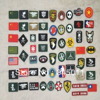 Wholesale man and women army fans DIY bag accessary outdoor backpack PVC Velcro personalized epaulette flag badge