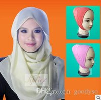 Wholesale Islamic underscarf qualified soft cotton headband inner hijab chemo bonnet colors mix order B12