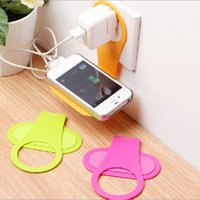 Wholesale Portable Mobile Charge Rack Holder Plastic Foldable Wall Charger Hangers For iPhone s plus SE Samsung S6 S7 Edge Note