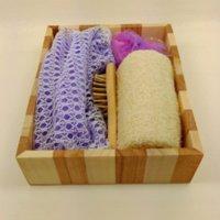 bath body basket - Fashion bathroom accessories bath set pieces bath brush cleansers bath hat sponge body basket set M