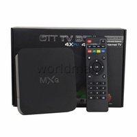 Wholesale MXQ Kodi Smart TV BOX MX Amlogic S805 Quad Core IPTV Android Kitkat K GB GB Media Player XBMC Load WIFI Airplay Miracast