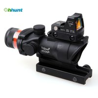 air rifle - Trijicon ACOG Style X32 Hunting Real Fiber Optic Red Illuminated w Weaver Rail RMR Red Dot Tactical Scope For Air Gun Airsoft