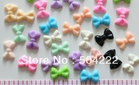 Cheap Set of 100pcs mixed lovely Bow Cabochons (22mm) Cell phone decor, hair accessory supply, embellishment, DIY- free shipping
