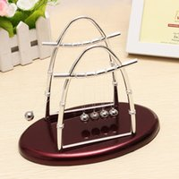 best balance ball - Best Promotion Physics Science Fun Desk Toy Gift Arc shaped Newtons Cradle Steel Balance Ball