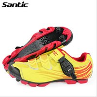 Wholesale SANTIC Bicycle Shoes Road Racing And Mountain Hiking Racing MTB Cycling Shoes Nylon Fibreglass TPU Professional Cycling Shoes