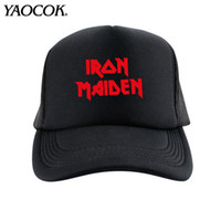 adjustable iron golf - Fashion Casual Hip Hop Logo Custom iron maiden Punk Rock Band Cool Mens Knit Hats And Snapback Caps Sport Brand Winter