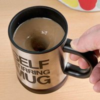 Wholesale Novelty Lazy automatic electric Self Stirring Mug Stainless Steel Tea Coffe Office Auto Mixing Cup