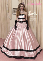belles images - Lovely Pink Southern Belle Quinceanera Dresses with Big Skirt Black Bowknot Ball Gown Sweet Dress Girls Years Party Prom Pageant Gowns