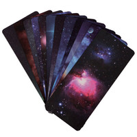 Wholesale 2015 New Set Amazing Paper Bookmarks Galaxy Of Stars Shining Universe Galaxy Collection For Literary x6 cm