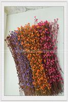 Wholesale diy wreath material retail Diy Wedding Garland Artificial Flower Head Ring Pip Berry Flower Stem Wreath Simulation Flower Bead Ac