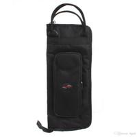 Wholesale Black Nylon Cloth Portable Drum Sticks Gig Bag with Shoulder Strap MIA_650