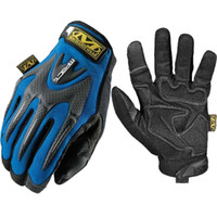 Wholesale Outdoor Sports Gloves Cheap Gloves Blue And Red Winter Sport Gloves Different Sizes Nylon Fabric Elastic Cuff With Hook And Loop Closure