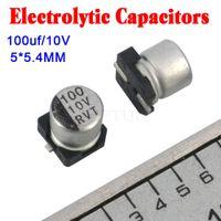 Wholesale Brand New uF V Electrolytic Capacitor V Microfarad Size x5 mm Aluminum Electrolytic Capacitors