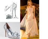 crystal pumps - 2015 New brand High heels CM Wedding Shoes shiny crystal shoes pointed Women shoes rhinestone Bridal shoes big size US4 US10 NSHX