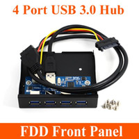 bay speed - High Speed Pin Pin Port USB Hub USB Front Panel Combo Bracket Adapter for PC Internal Inch FDD Floppy Bay