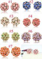 Wholesale Stud Earrings for Women Brincos Grande Pendientes Mujer boucle d oreille Jewelry Women Fashion Flower Earrings pairs