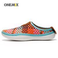 Wholesale ONEMIX Women Fashion Walking Shoes with Colors Light Weaves Breathable Outdoor Shoes EUR Size
